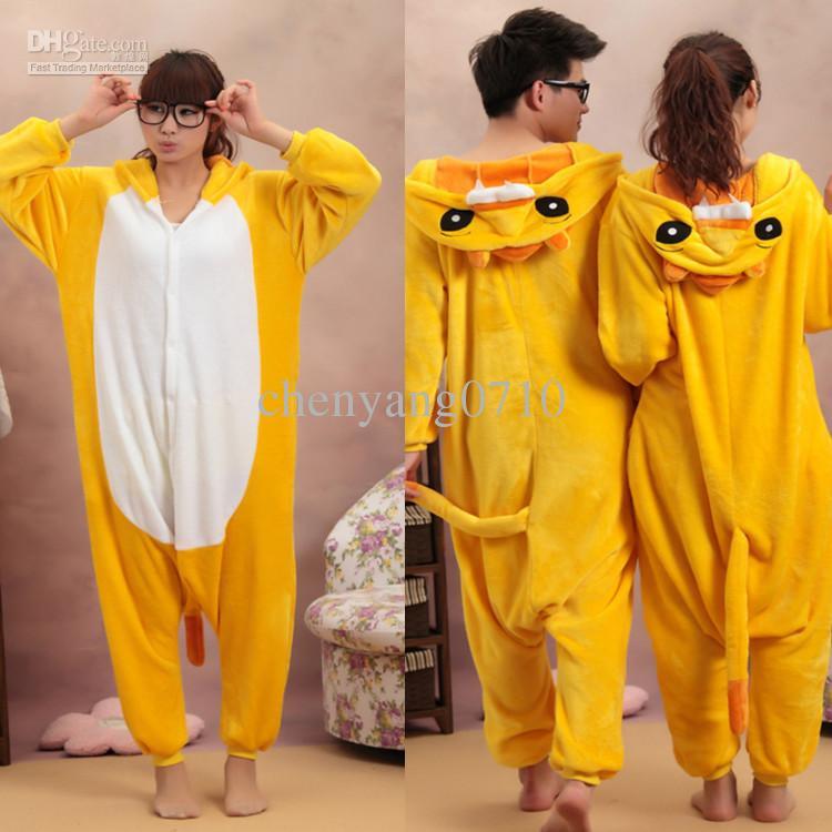 Cartoon Tier Lion Erwachsene Onesies Onesie Pyjamas Kigurumi Jumpsuit Hoodies Nachtwäsche Für Erwachsene Willkommen Großhandel Bestellung