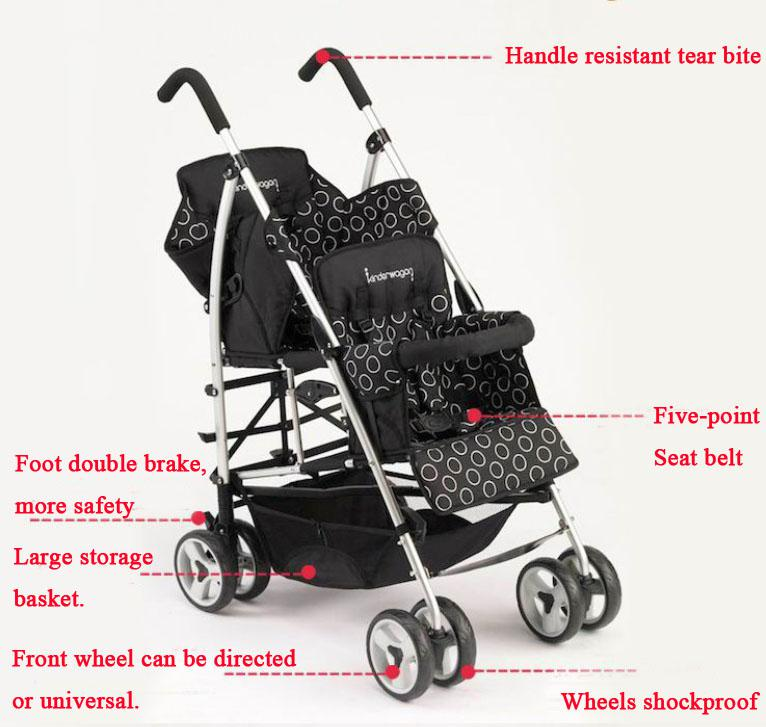 2017 Domestic Cheap Double Strollers Sale,Tandem Brother Stroller ...