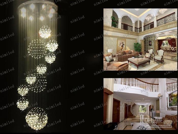 LLFA42 DIA 80cm / 100cm / 120cm Modern Elegans ljuskristallljus Hängsmycke Lampa DropLight Lighting taklampor Belysningsarmaturer