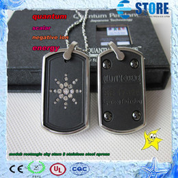 Wholesale Stainless Steel Rectangle Pendant - BEST GIFT TO YOUR FRIENDS ! Free shipping,science quantum negative ion energy pendant, rectangle sky stars & stainless steel aprons ,50pcs M