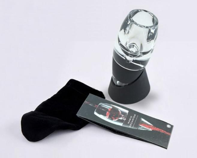 Livraison gratuite portable vin magique décanteur, aérateur de vin rouge essentiel, sac à trémie et filtre