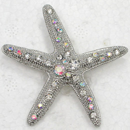 Wholesale crystal starfish brooch pin - Wholesale Crystal Rhinestone Starfish Brooches Pin Fashion brooches Jewelry gift C949
