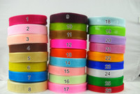 10rolls / lot 50yard / roll 20 milímetros Organza Wedding Sash ribbon DIY Craft Ribbons festa Holiday Decoração Christmas Caks Packing Spool