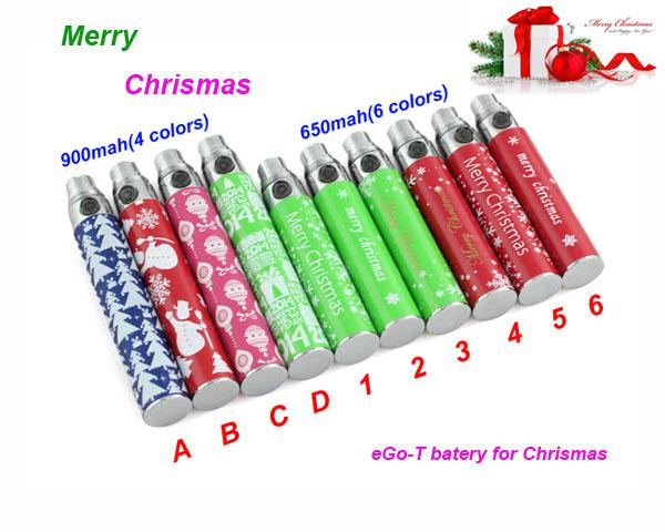 2014 Chrismas Gift Electronic Cigarette EGO Battery EGO-T Batteries 650/900 Capacity Fit CE4 DCT2 MT3 T2 Atomizer E-cig EGO-T Battery