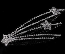 Wholesale Star Rhinestone Wedding Hair Clip - elegant Wedding Bridal party Jewelry crystal star headpiece hair clip headwear hairwear floral headdress hair accessories jt098