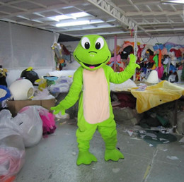 Wholesale Green Adult Mascot Costume - adult plush green frog mascot costume animal costume cartoon costume EMS free shipping