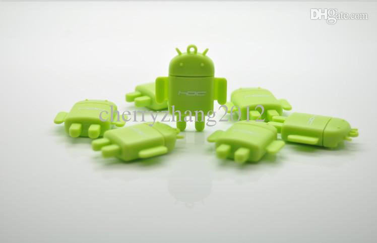 Android lector de tarjetas USB Robot Doll teléfono móvil lector de tarjetas Micro SD TF lector de tarjetas envío gratis