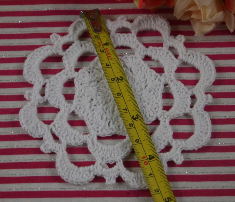 Handmade Crochet pattern Placemats doily Vintage cup Pad mats tablecloth coasters 11cm Custom Colors