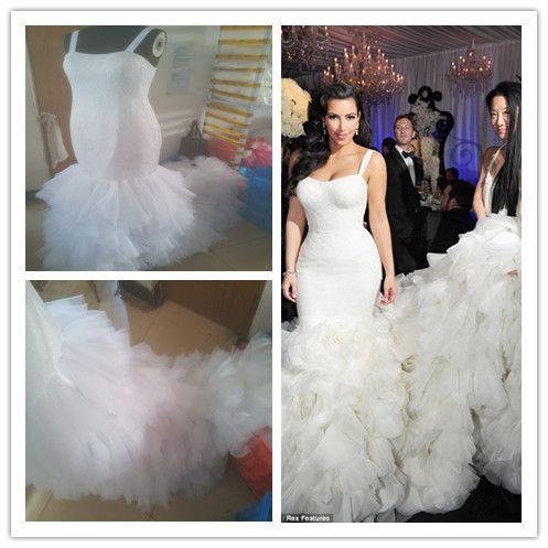 Großhandel 2014 Kim Kardashian Mermaid Brautkleider Tatsächliches ...