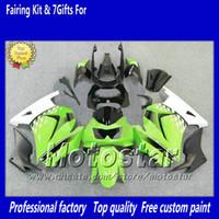 plásticos kawasaki ninja blanco al por mayor-7 regalos de carenados de plástico ABS para Ninja 250R kawasaki ZX250RX 250 EX250 2008-2012 negro blanco verde carenado carrocería ry9