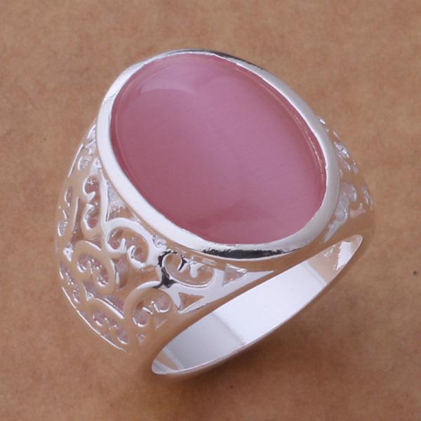 Blandade beställningar toppkvalitet 925 Silver Opal Ring Fashion Classic Smycken för kvinnor Gratis frakt 12st / Julklapp
