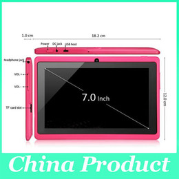Blue Inch Tablet Canada - Nice Gift Q88 A23 with keyboard case Tablet PC Android 4.2 Dual Camera 512MB 4GB 7 Inch dual core factory pirice