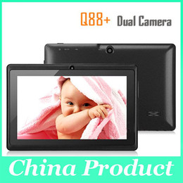 Tablet China 4gb Australia - Best Christmas gift 7'' Q88 Dual Camera tablet pc A13 Android 4.0 Tablet PC with Capacitive 512MB DDR3 4GB DHL Free 111251