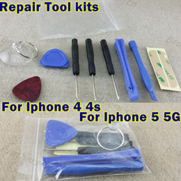 Wholesale Iphone 4s Screw Kit - 10 in 1 REPAIR PRY KIT OPENING TOOLS With 5 Point Star Pentalobe Torx Screw Screwdriver For APPLE Iphone5 5s 5c iphone 4 4s 6 6plus