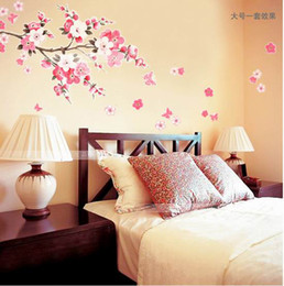 Wholesale Decal Stickers Art Home Decor - Sakura Wall Stickers Decals Removable Wall Paster Vinyl Decal Home Decor ZCC1*1