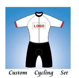 manga curta gigante azul Desconto DIY 2019 personalizar bicicleta ciclismo jersey e calções conjunto de combinação / desgaste da bicicleta personalizado vestuário tamanho XS-XXXXL