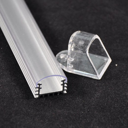 Wholesale Cover Wedges - 40pcs lot DHL EMS 50cm waterproof U Channel aluminum slot with transparent cover for warm white led bar rigid light SMD7020 outdoor light