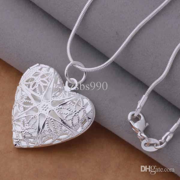 Mischbestückung / 925 Silber überzog hängendes Halskettenart und weiseschmucksachen Valentinstaggeschenk des Herzens freies Verschiffen /