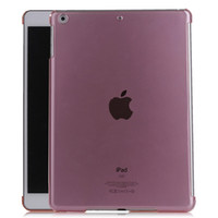 Wholesale Tablet Pc Inch Thin - New Ultra Thin Crystal Clear Transparent Hard PC Plastic Back Case Smart Cover for 9.7' inch iPad Air iPad 2 3 4 5 mini ipad5 tablet PC