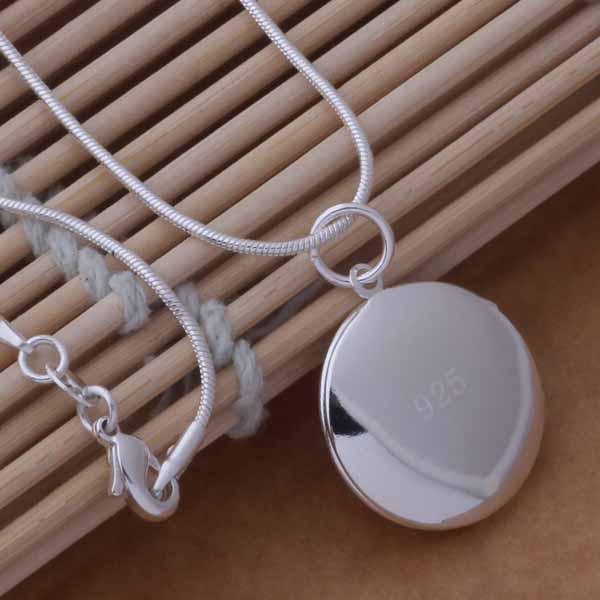 L'argento di alta qualità 925 ha placcato il trasporto libero / degli ordini classici dei monili classici di modo della collana del pendente della collana