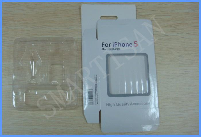 Empty Retail Package 3 in 1 Carton Retail Package Packaging Boxes box for iphone 5 5G cables chargers 100pcs up