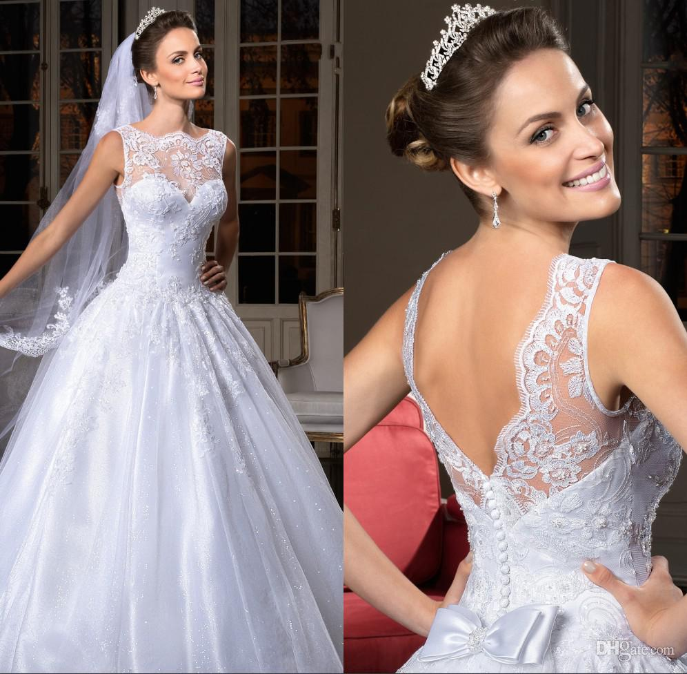 Graceful Sweetheart Covered Button A-Line Organza Lace Zuhair Murad Lace Wedding Dresses Church Wedding Dress Bridal Gown Free Shipping