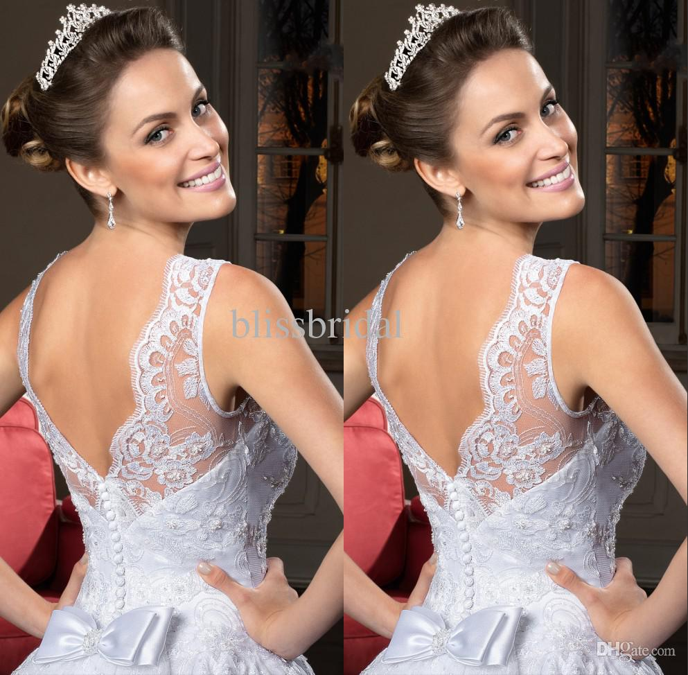 Graceful Sweetheart Covered Button A-Line Organza Lace Zuhair Murad Lace Wedding Dresses Church Wedding Dress Bridal Gown