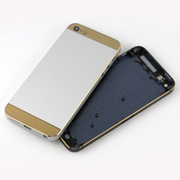 Wholesale Back Cover Housing Iphone5 - For iPhone 5 5G Back Housing Hot Stamping Battery Door Cover for iPhone5 Replacement Parts