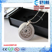 Wholesale Quantum Scalar Negative Ion Pendant - FREE SHIPPING!with more than 3000cc negative ion, science quantum scalar energy pendant, stainless steel necklace ,two kinds package, M