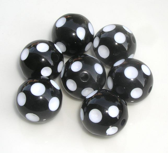 20mm Mix Color Round Acrylic Polka Dot Beads For Chunky Necklace Kids Jewelry Finding Making