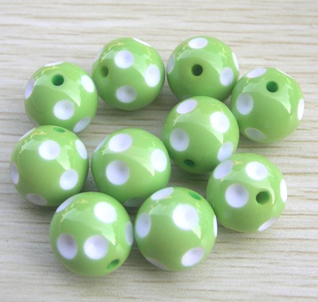 100 unids / lote 20 mm color de la mezcla de acrílico redondo lunares para Chunky collar joyería de los niños encontrar haciendo
