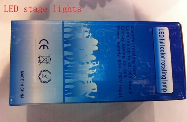 Super!!!!!! 3W / 6W E27 farbenreiches RGB LED Kristall sprachaktiviertes drehendes Stadiums-Licht DJ-Lampen-Glühlampe-Stadiums-Beleuchtung AC85-265V