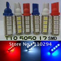 Commercio all'ingrosso 100pcs T10 17 SMD 5050 17 LED Car Auto LED Wedge Luce interna Car Side Light Bulb