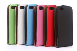 Wholesale Iphone5c Leather - Flip Leather Case Cover For iphone 5C iphone5C Vertical PU Cases 6 colors Skin Free Shipping