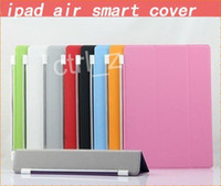 Wholesale Slim Magnetic Front Smart Ipad - Ultra Slim Front Smart Cover Magnetic Case for Ipad air 5 Stand Sleep Wake UP Leather Cases Protector
