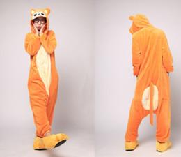 Wholesale Monkey Kigurumi - Cartoon Animal Gold Monkey Unisex Adult Onesies Onesie Pajamas Kigurumi Jumpsuit Hoodies Sleepwear For Adults With Back Zip for Toilet
