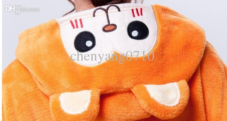 Animal de la historieta Mono de oro Unisex adulto Onesie Onesie Pijamas Kigurumi Mono Sudaderas Ropa de dormir para adultos con Cremallera trasera para el inodoro