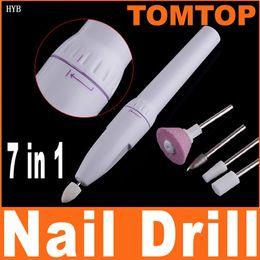 Wholesale Electric Nail File Cordless - Fashion Mini Cordless Nail Art Drill Tools Nail Art Tips Electric Manicure Toenail Drill File Tool HYB*5