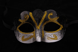 Glitter Masquerade Canada - Venetian Eye Glitter Mask Fancy Dress Mask Masquerade Halloween Costume Mardi Gras Party Mask Assorted Colour 50pcs lot