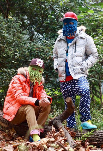Jul Nya hattar för vuxen handgjord cthulhu skidmask bläckfisk hatt 2013 mode nyhet handgjord stickning ull bläckfisk unisex hat yw15