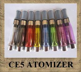Wholesale Ego Ce5 Dual - CE5 Atomizer 1.6ml Dual-hole No Cotton Thread 8 colors electronic cigarette heaven vapor CE5 Clearomizer math eGo e-cig battery