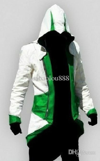 NOVEDAD.Assassin's Creed III Conner Kenway Abrigo chaqueta con capucha Cosplay