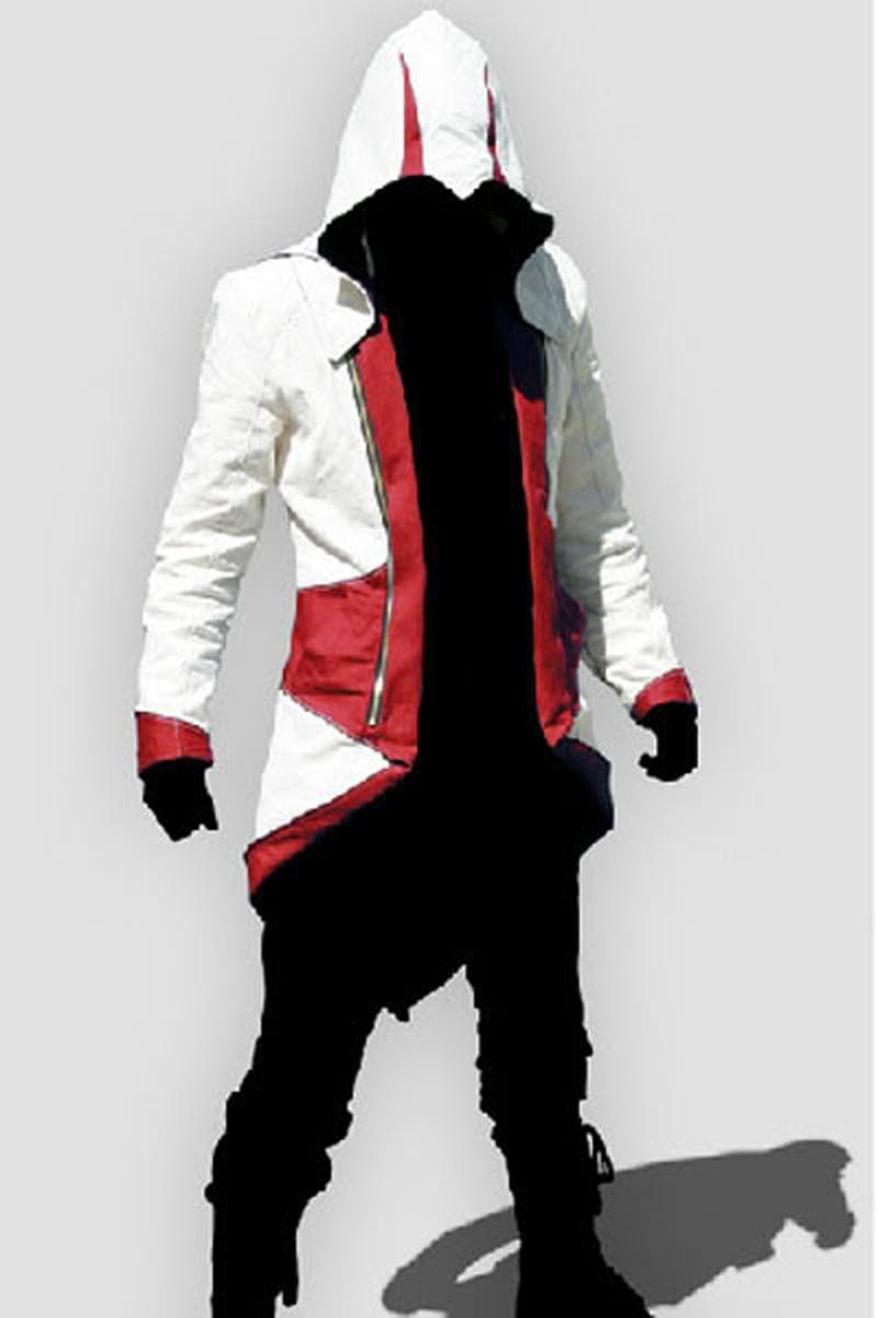NEW.ASSASSINのCREED III CONNER KENWAYコートジャケットパーカーコスプレコスチューム