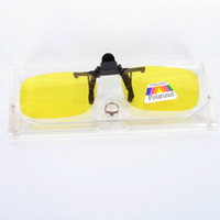 Wholesale Wholesale Optical Drive - Clip-on Sunglasses For Night Vision Use Clip on Optical frame Polarized UV400 Yellow Lens Eyewear Accessory Driving Partner