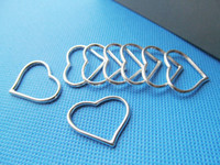 Wholesale Silver Frame Connectors - Antique Silver tone Antique bronze Heart Frame Connector Pendant Charm Finding,for Bracelet and Neckalce,DIY Accessory Jewellry Making