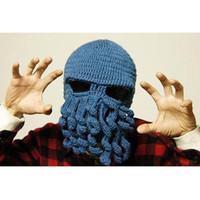 маска с осьминогами оптовых-Ручной Ктулху лыжная маска осьминог шляпа вязание осьминог шапка смешная шляпа на Рождество 2013 мода новинка для взрослых шляпа щупальца Шапочка шапки YW15