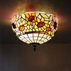 glass ceiling lamp bedroom European-style garden cafe sunflowers hallway lights DIA 30 CM H 19 CM