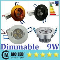 Wholesale led downlights black - Energy Saving 9W Led Downlights 60 120 Angle Warm Natural Cool White Dimamble Led Recessed Lamp 110-240V White Silver Black Golden Shell