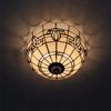 glass ceiling lamp bedroom European-style garden cafe hallway lights DIA 30 CM H 18 CM