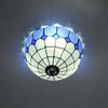 glass ceiling lamp bedroom Mediterranean-style cafe hallway lights DIA 30 CM H 18 CM